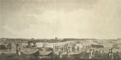 View of an encampment at Farnham